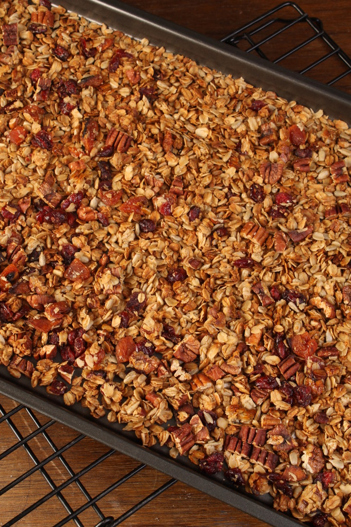 Granola on tray #1